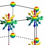 Radial spin texture in elemental tellurium with chiral crystal structure